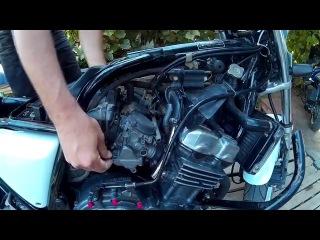 Чистка карбюраторов CB400 (снятие) ч 1