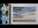 How to Paint a Sunset. Storm Clouds. Mood Sky. Tutorial by Peter Sheeler
