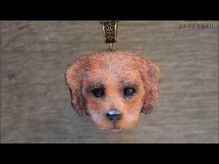 Мастер-класс по лепке кулона из полимерной глины. Лепим щенка. Tutorial polymer clay puppy