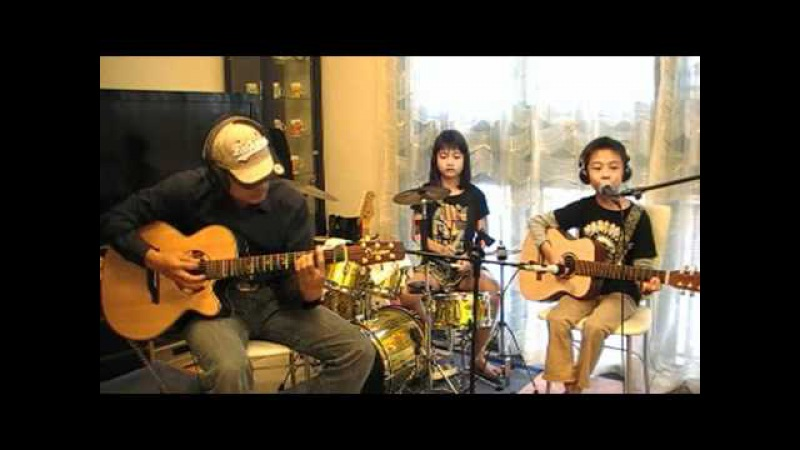 Nirvana Smells Like Teen Spirit 8yo kid acoustic cover for Kurt Cobain 17th anniversary