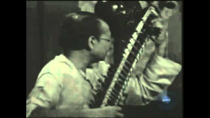 СИТАРА. Raag Maluha Kalyan by Pandit Nikhil Banerjee and Pandit Anindo Chatterjee on Tabla