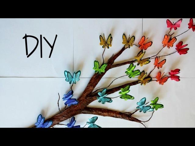 DIY Tree Branch 3D Butterflies ♥ Room Decor