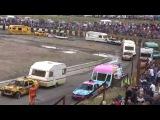 Caravan Demolition Derby @ Warton Stock car club.30th August 2015.