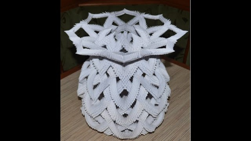 3D ОРИГАМИ ВАЗА 3D Origami Vase