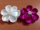 DIY Kreasi Bunga Dari Pita Satin - How to make a satin ribbon flower