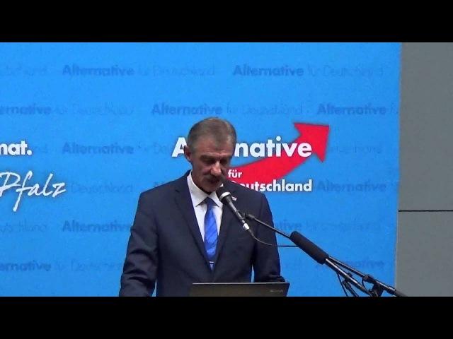 Uwe Junge AfD rechnet mit Merkel Dreyer Co gnadenlos ab 5 März 2016 in LU