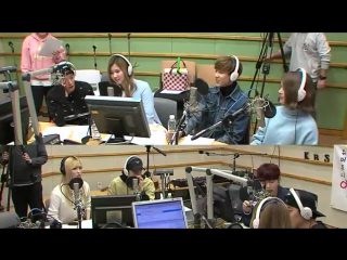 160303 Kiss The Radio with TWICE(Momo, Sana), GOT7(Mark, Bambam), f(x)(Amber) & CLC(Sorn)