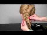Прическа с плетение на длинные волосы. Braided hairstyles tutorial