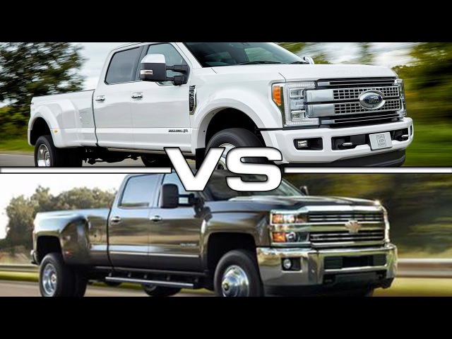 2017 Ford F-450 Super Duty vs 2016 Chevrolet Silverado 3500HD