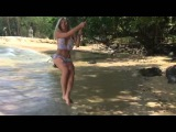 Gorgeous Natalia in Blue Hawaii bikini. Amazing places of Thailand.