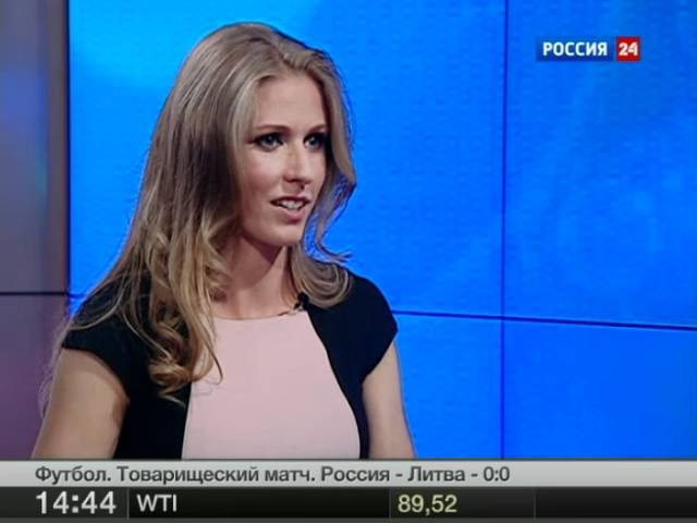 Elena Dementieva in the Channel Russia 24