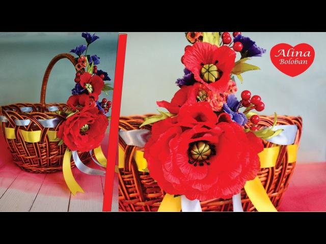 Украшение Пасхальной Корзины . Мастер Класс для Ленивых Decorated Easter basket. tutoria