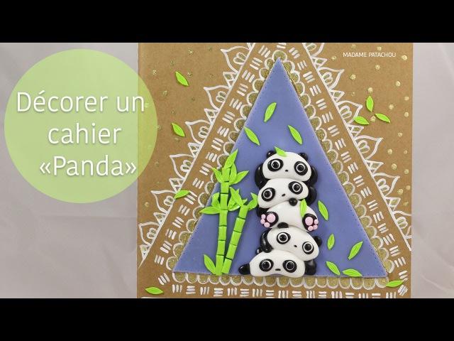 Décorer un cahier panda pâte polymère