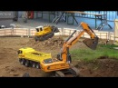 RC Trucks Construction Site 1 3 Excavator Baustelle Bagger LKW ♦ Modellbaumesse Wels 2016