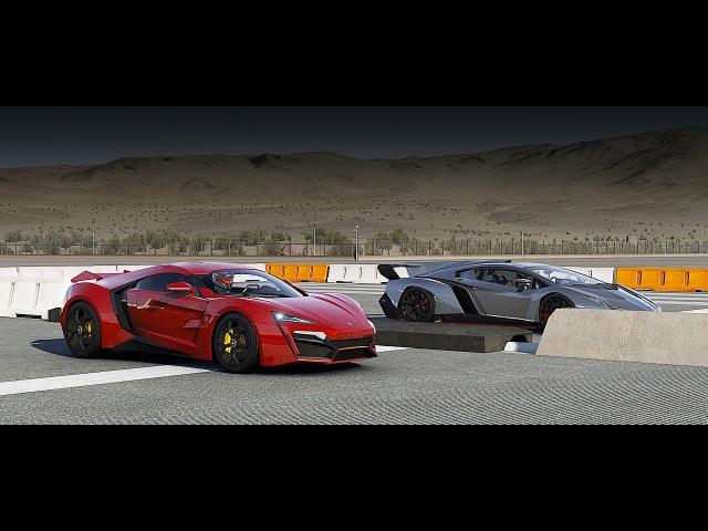 Lykan HYPERSPORT vs Lamborghini Veneno Drag Race | Forza 6