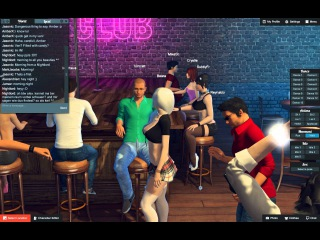 3DXChat game tour. Multi player game and chat for adults.