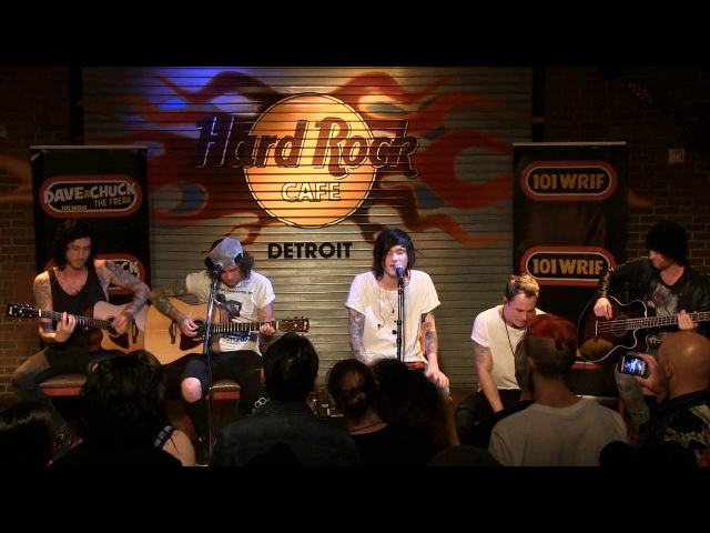 Asking Alexandria performing Here I Am (Acoustic)at the WRIF Rock Girl Finals