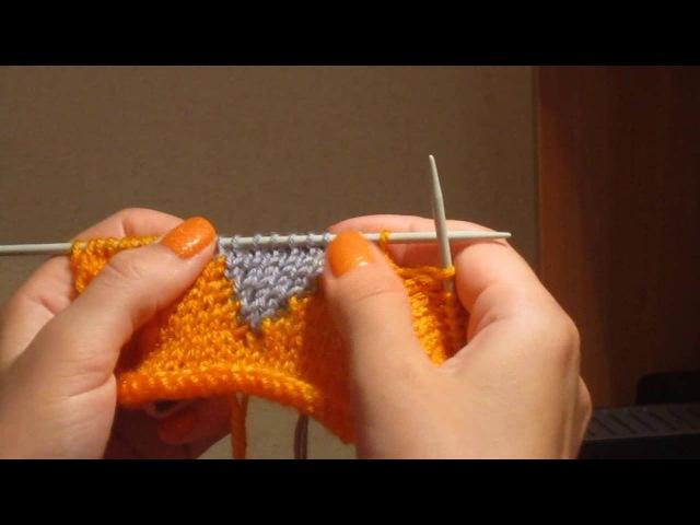 44. Цветное вязание в технике интарсия