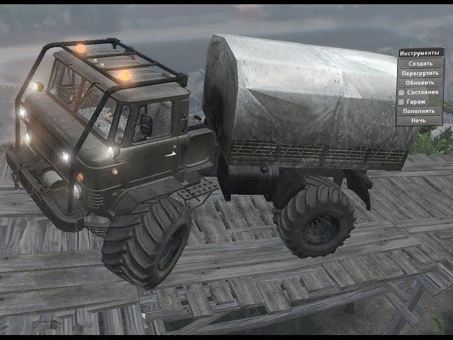 Мод ГАЗ-66Мамонтенокv1 для Spin Tires 8.11.2015