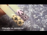 Вензеля. Новогодний сверкающий дизайн ногтей! Акриловая пудра и гель краска. olesyages