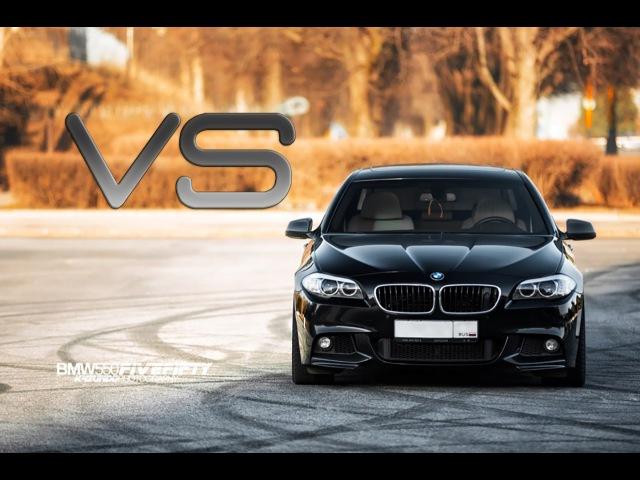 BMW F10 530d ST3 DieselBoost (430hp) vs BMW F10 550xi ST1 (500hp)