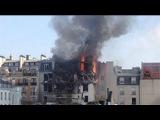 Появилось первое видео с места взрыва в Париже
