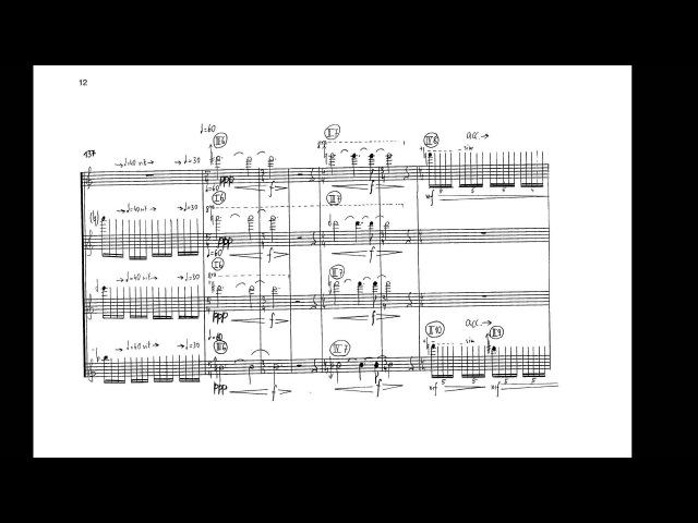 Georg Friedrich Haas - String Quartet No. 1 (wscore) (1997)