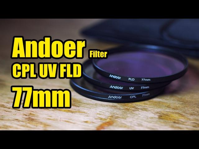 Andoer Filters CPL, UV, FLD 77mm Фильтры из Китая