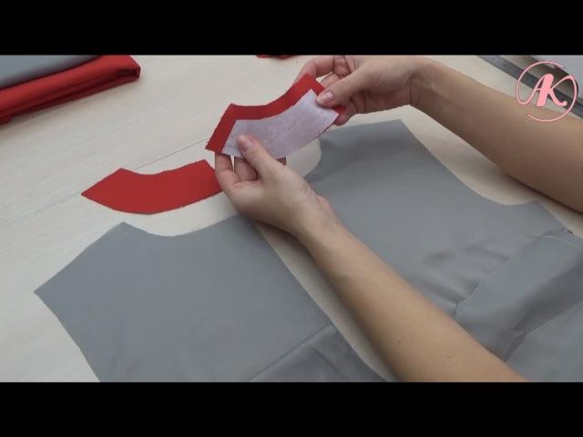 Обработка платья подкладкой. Как притачать подкладку к потайной застежке-молнии. Часть2