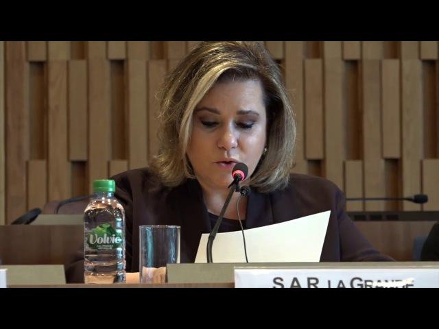 La Grande Duchesse de Luxembourg à l'UNESCO pour la Journée internationale de la femme