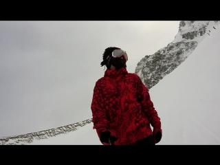 SkiBoarding on Shymbulak