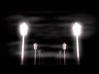 Футаж для видеомонтажа начала фильма: улица ночных фонарей