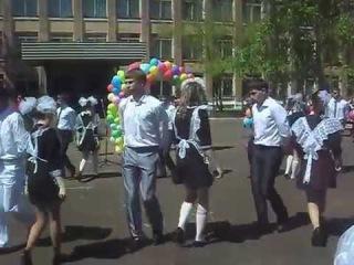 Выпускной вальс 2015 + национальный флеш-моб, Лесогорск 22.05.2015г.