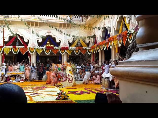 Праздник Катания Божеств на Лодках в Храме Кришна Баларама Мандире во Вриндаване.