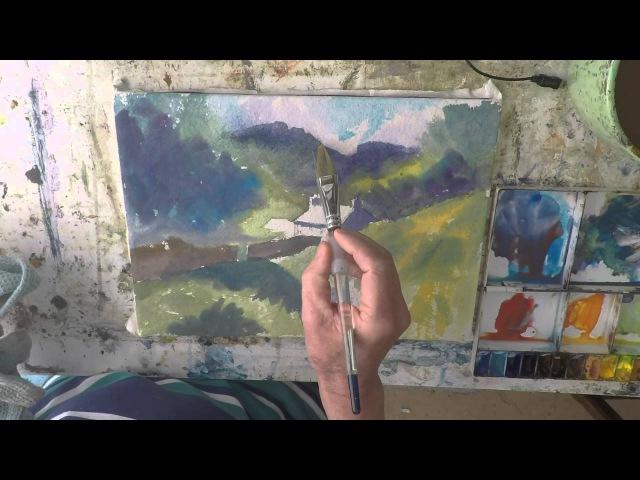 Watercolour Tutorial Blea Tarn Cottage Lake District