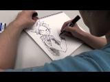 FAIRY TAIL CREATOR HIRO MASHIMA DRAWING NATSU YouTube 1080p