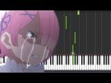 ReZero kara Hajimeru Isekai Seikatsu Ep 7 OST - Slow STYX HELIX Piano (Synthesia Tutorial + Sheet)