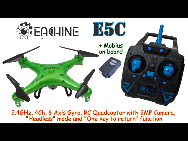 Eachine E5C 2.4GHz, 4Ch, 6 Axis Gyro, RC Quadcopter with Headless mode and 2MP Camera (RTF)