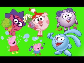Свинка Пеппа Peppa Pig ШИПЕЛКИ Смешарики и Зефирки Принцессы Мультики про Пеппу
