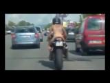 Голая Обнаженная Девушка На Мотоцикле- ЭТО ЕВРОПА +18