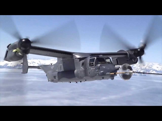 THIS CAN'T BE SAFE us military V-22 Osprey aircraft refueling