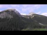 Train from St.Moritz to Chur. Der Zug von St.Moritz nach Chur. Поезд Сенкт-Мориц - Кур