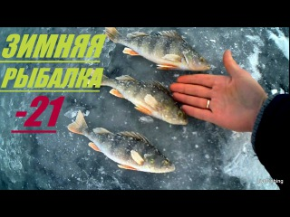 Зимняя рыбалка в  - 21.  Окунь.