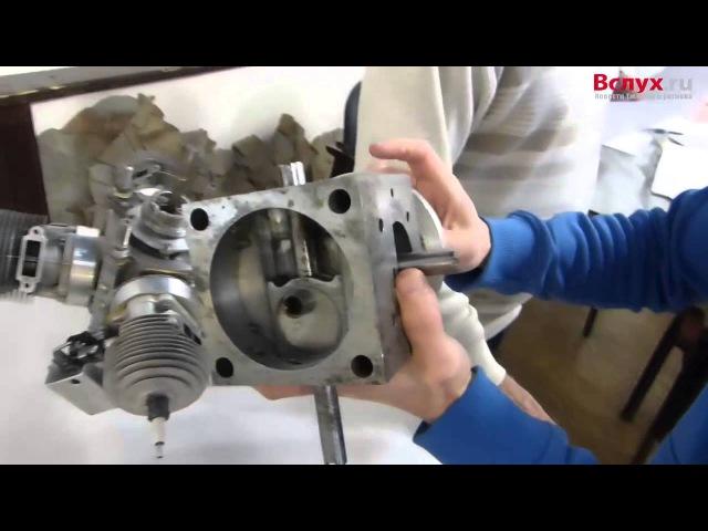 Макет бесшатунного двигателя схемы Баландина (12.10.2015)