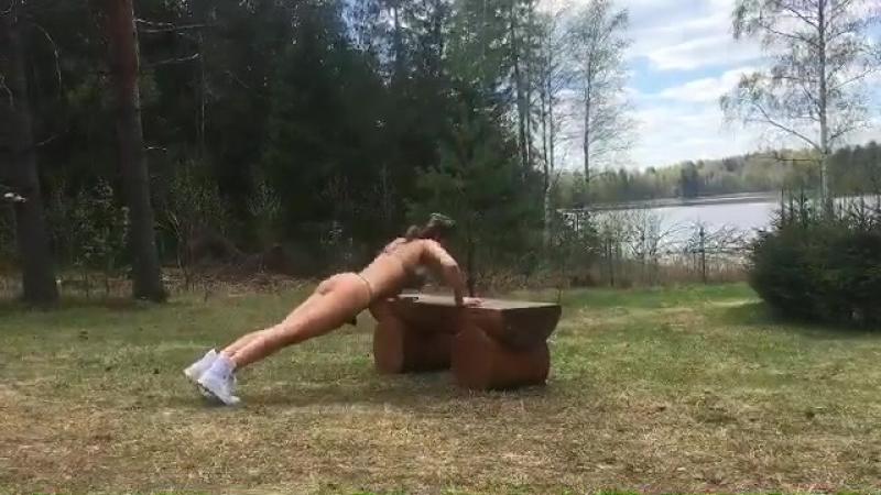 Видео тренировки Карины Зверевой  » онлайн видео ролик на XXL Порно онлайн