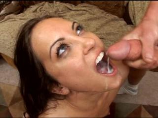 Jamie huxley (brandon iron productions - cum swallow scenes) красотка глотает сперму. порно