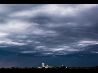 Красивейшие облака-асператус в штате Небраске (США, июль 2014г).