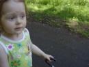 В парке Сосновом бору с бабой Машей прабабушкой 3 года 3 месяца
