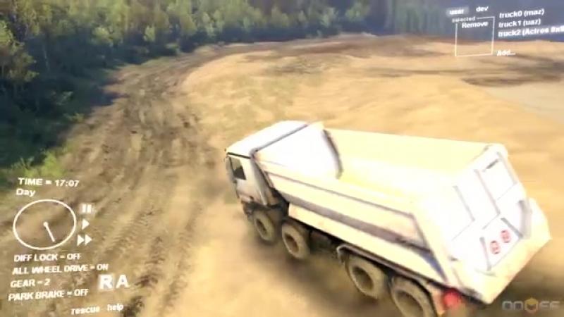 Spin Tires - Dev Demo - Mercedes Benz Actros 8x8