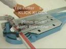 Taglio di piastrelle in Cotto fiorentino da 20mm a 90° con tagliapiastrelle art 3BK